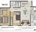 Cobertura 2 quartos - 1ª opção - 1º pavimento