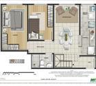 Cobertura 2 quartos - 2ª opção - 1º pavimento
