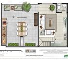 Cobertura 2 quartos - 2ª opção - 2º pavimento