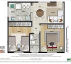 2 dormitórios - 1ª opção