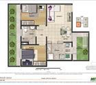 2 quartos com área privativa - 8ª opção