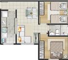 2 dormitórios - 3ª opção