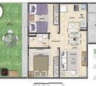 2 quartos com área privativa - 1ª opção