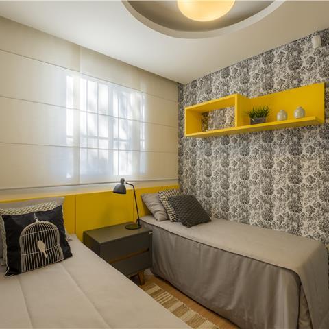 Apartamento decorado - Quarto Solteiro
