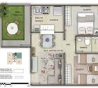 2 dormitórios com área privativa - 2ª opção