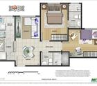 2 dormitórios com suíte