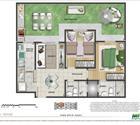 2 dormitórios - área privativa
